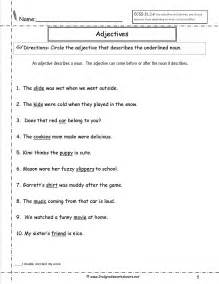 Nouns and adjectives worksheets identifying nouns verbs adjectives