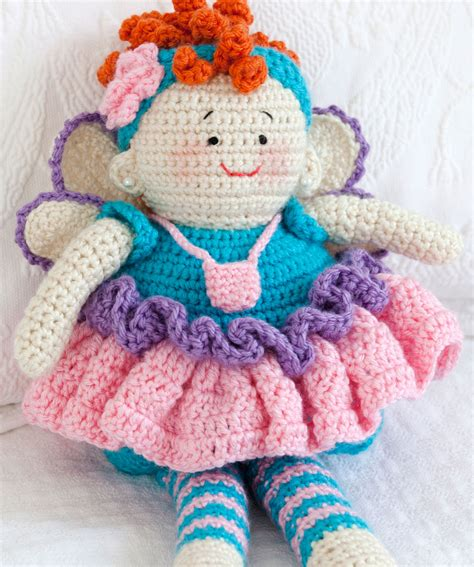 free pattern red heart tooth fairy doll crochet pattern red heart