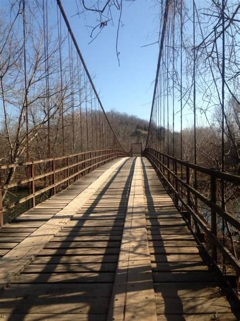 swinging bridges swinging bridge lake of the ozarks pinterest