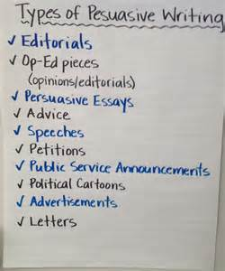 Types Of Essay Writting by Types Of Persuasive Writing For Teachers