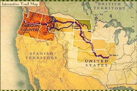 lewis and clark map lewis and clark interactive trail map pbs