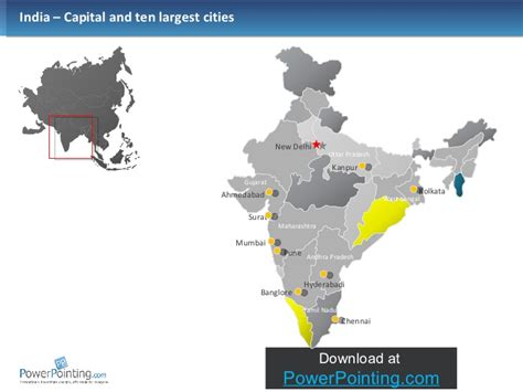 Powerpoint India Map India Map Ppt