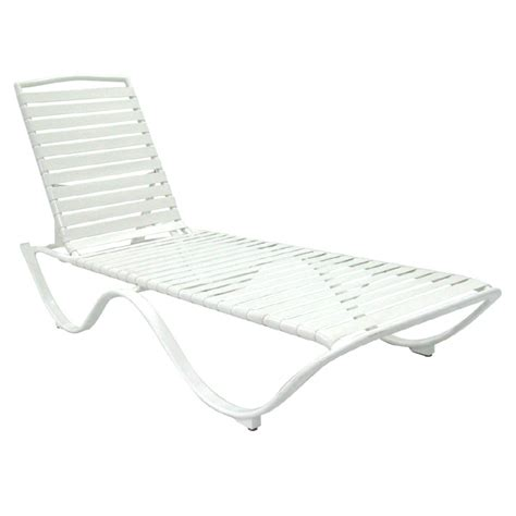 garden treasures chaise lounge shop garden treasures strap seat aluminum patio chaise