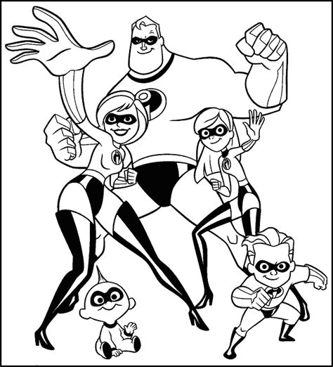 Coloring Page Incredibles by Krafty Kidz Center Mr Incredibles Coloring Pages