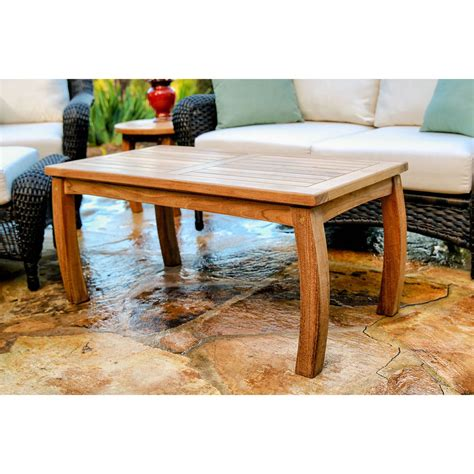 Tortuga Outdoor Teak Rectangle Coffee Table Patio Decor Outdoor Patio Coffee Table