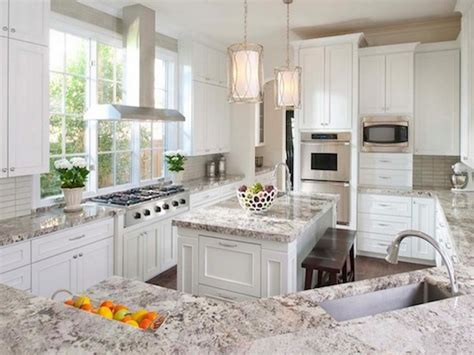 Kitchen Countertops With White Cabinets by White Galaxy Granite For Stylish And Affordable Kitchen