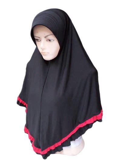 Kerudung Rempel Ped Bahan Pop zahira jersey rempel bawah toko jilbab grosir