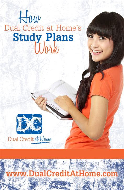 Dual Credit At Home by How Dual Credit At Home S Study Plans Work