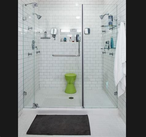 modern white tile bathroom white subway tile bathroom modern with glass doors