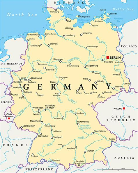map germany map of germany guide of the world