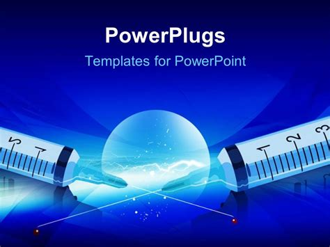 powerpoint templates free download diabetes powerpoint template syringe with markings and medical on