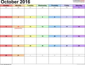 october 2016 calendar template yearly calendar printable