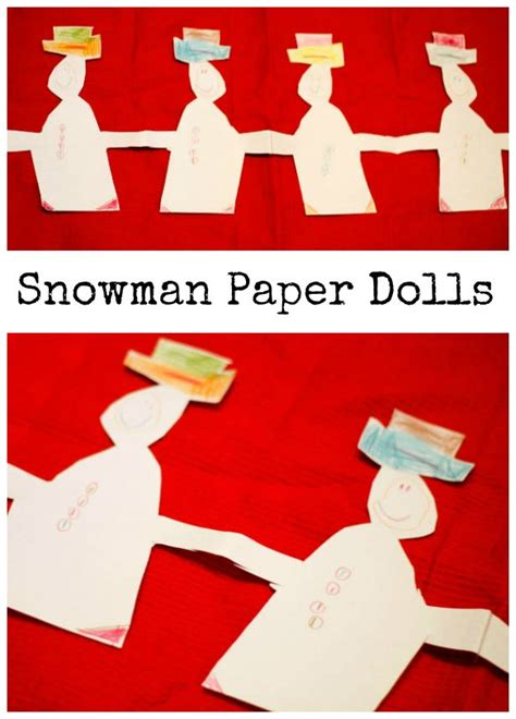 How To Make Paper Snowman - snowman paper dolls in the playroom