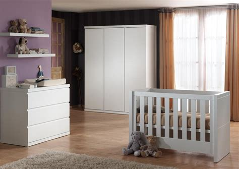 chambre a coucher bebe complete chambre b 233 b 233 compl 232 te contemporaine coloris blanc elara
