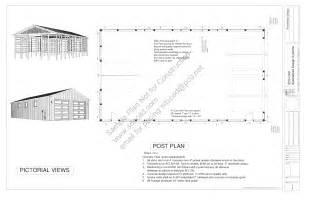 pole barn house plans free g322 40x72 16 pole barn plans blueprints construction