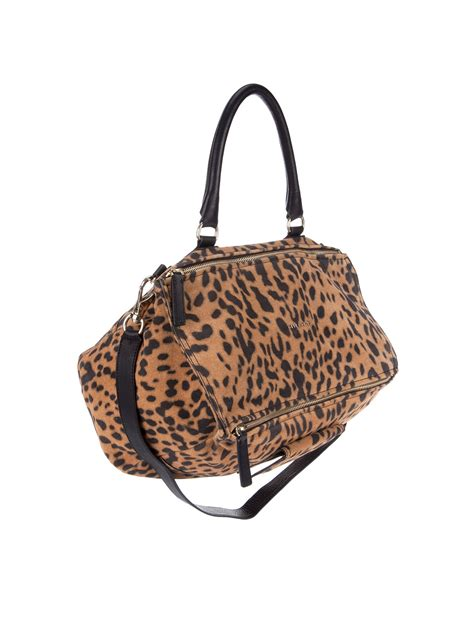 Lucretia Leopard givenchy mini lucrezia leopard tote in animal multi lyst
