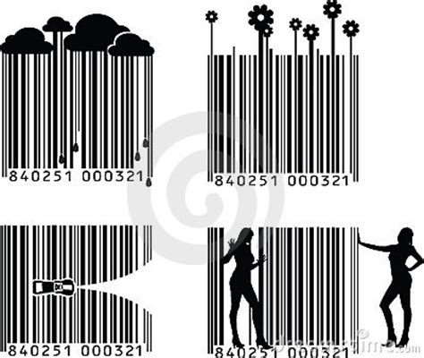 barcode tattoo audio four black and white barcode stock images image 11999054
