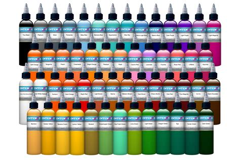 54 color intenze tattoo ink set 2oz