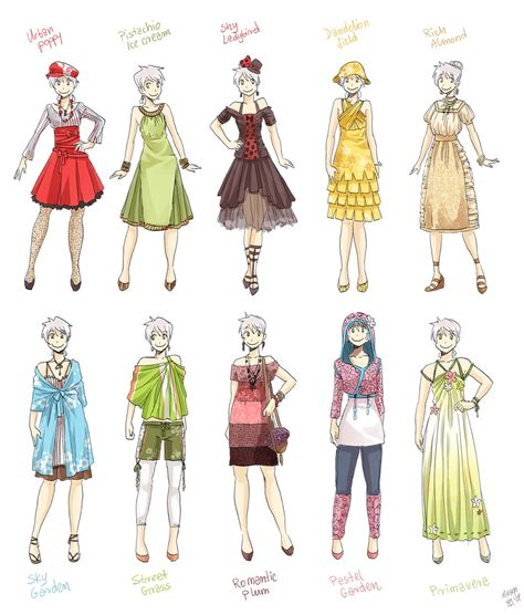 fashion design referenced various female clothes 3 by meago on deviantart