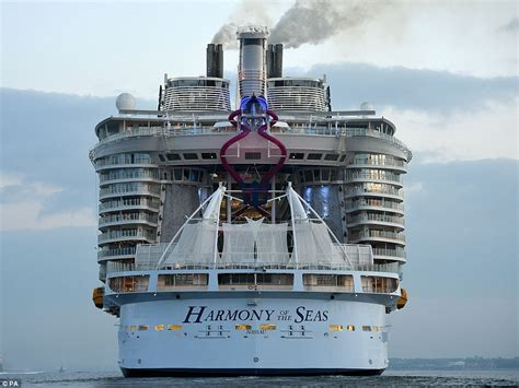 biggest boat in the world tour harmony of the seas makes titanic look a minnow as it