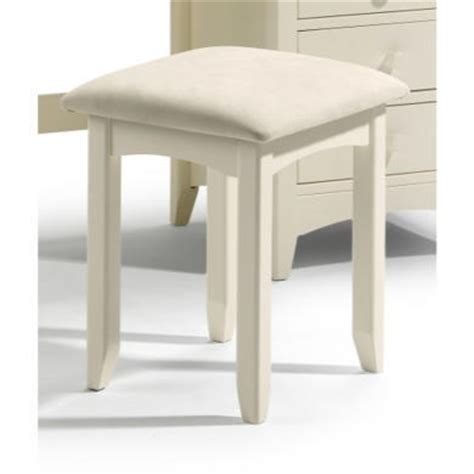 bedroom stools and chairs julian bowen cameo dressing table stool in stone white