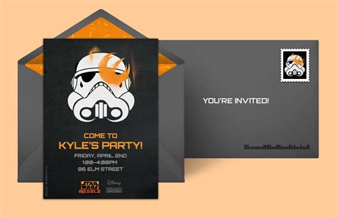 Free Star Wars Invitations, Star Wars Online Invitations