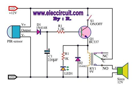 rf is there any circuit like quot burglar alarm quot or