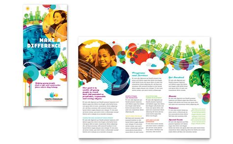 quark templates for brochures youth program tri fold brochure template design