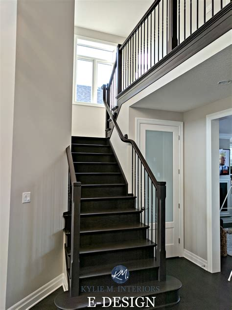 best paint for stair treads benjamin collingwood in a staircase with wood