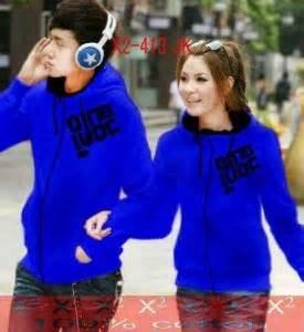 Jaket Qing jaket qing luoc biru jacket remaja korea keren