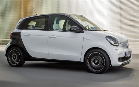 smart car four door news all new smart forfour shares looks rear engine