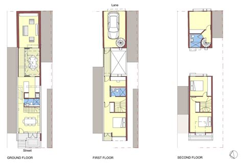 narrow terraced house design surry hills terrace redshift architecture art