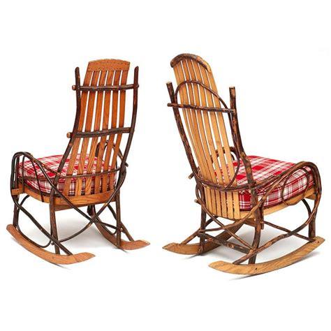 Rocking Adirondack Chairs by Pair Of Adirondack Rocking Chairs At 1stdibs