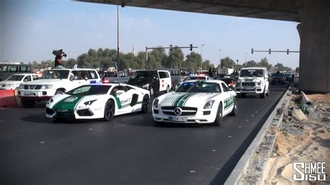 The Dubai Grand Parade   Veyrons, Police Supercars