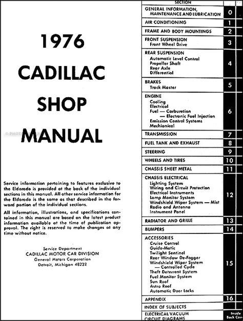 1974 Cadillac Eldorado Wiring Diagram For Mootor