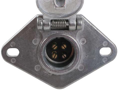 pollak heavy duty  pole  pin trailer wiring socket
