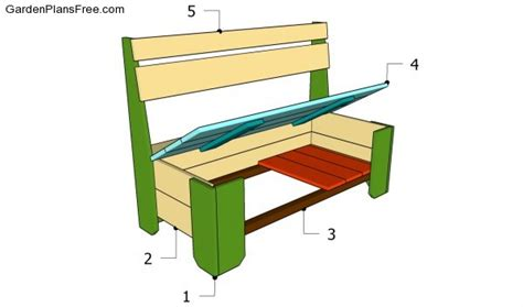 building a bench with storage wood bench plans with storage woodproject