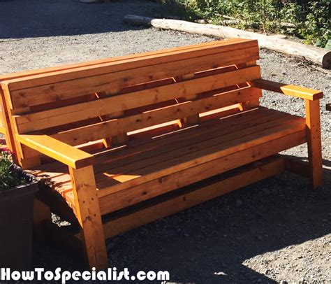 build outdoor bench with back diy outdoor bench howtospecialist how to build step