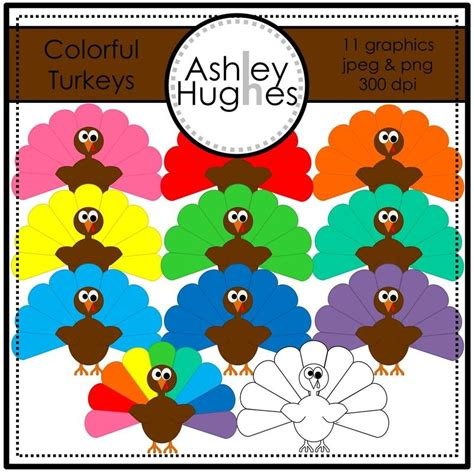 colorful turkey colorful turkeys clipart a hughes design theme