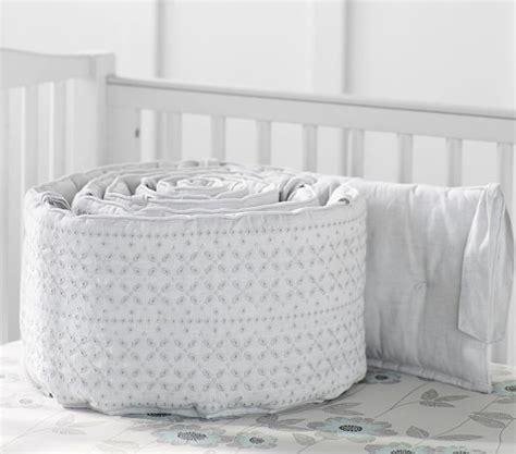 Belgian Linen Bedding Sets Belgian Flax Linen Eyelet Baby Bedding Sets Pottery Barn