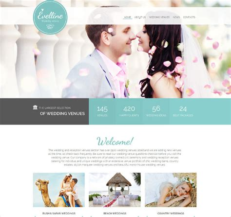 17 wedding html5 themes templates free premium