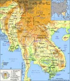 South East Asia Physical Map by Pics Photos Description Rivers Of Southeast Asia Blank