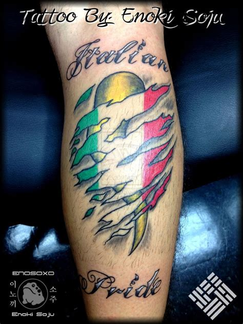 italian horn tattoo designs italian horn flag skin rip script by enoki by