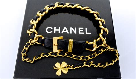 chanel collar vintage chanel collar chain leather choker necklace