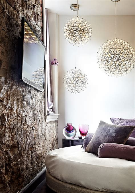Living Room Pendant Light Eclectic Loft In Toronto Blends Contemporary Luxury With Creative Design