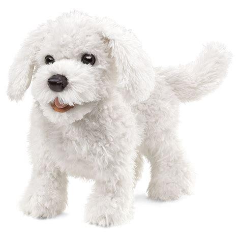 puppy puppet folkmanis maltese puppet ebay