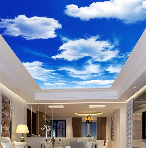 ceiling mural wallpaper custom ceiling wallpaper blue sky and white clouds murals