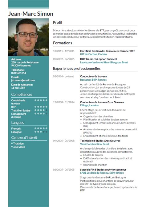 Exemple Cv Professionnel by Exemple Des Cv Cv Simple Degisco