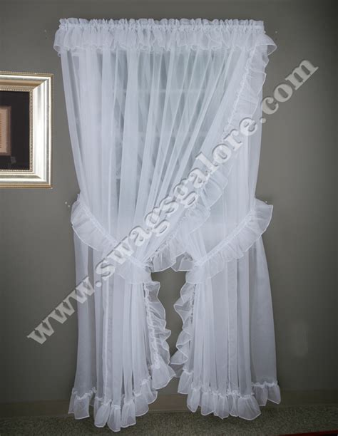 ruffled priscilla window curtains criss cross curtains attached valance