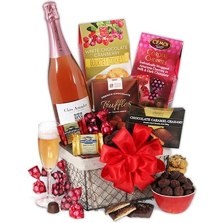 valentines day gift basket valentine s day chagne chocolate by